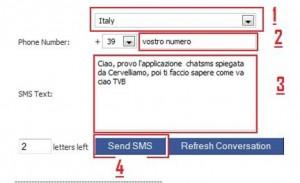 invia sms con Chatsms